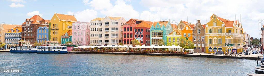 Panorama des historischen Punda Innenstadt von Willemstad Curacao – Foto