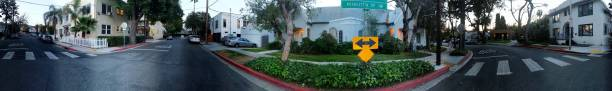 panorama de casas y jardines del sur de california - 360 fotografías e imágenes de stock