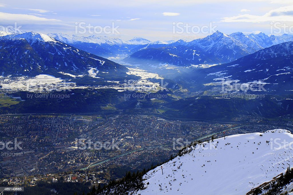 Panorama von Innsbruck von oben – Foto