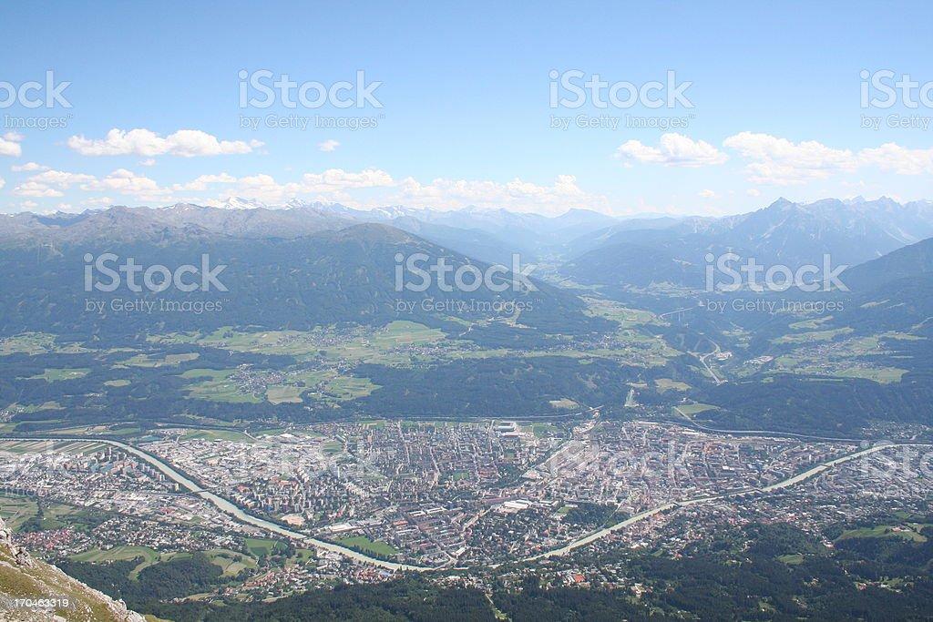 Panorama of Innsbruck, Tyrol, Austria - Alps royalty-free stock photo