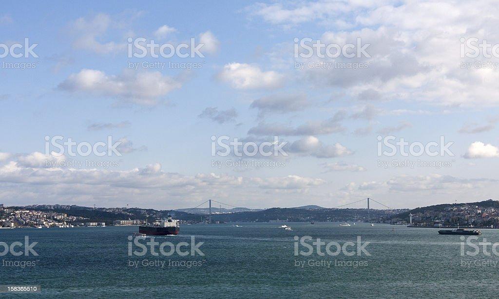 Panorama of Istanbul, Turkey royalty-free stock photo