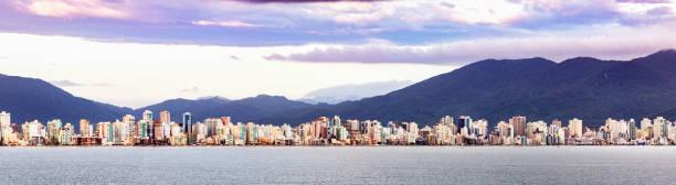Panorama of Itajai, cityscape, Santa Catarina, Brazil. stock photo