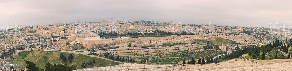 Panorama of Jerusalem, Israel. stock photo