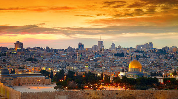 Panorama of Jerusalem old city. Israel Panorama of Jerusalem old city. Israel historical palestine stock pictures, royalty-free photos & images