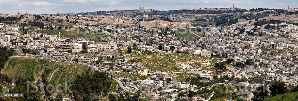 Panorama of Jerusalem royalty-free stock photo