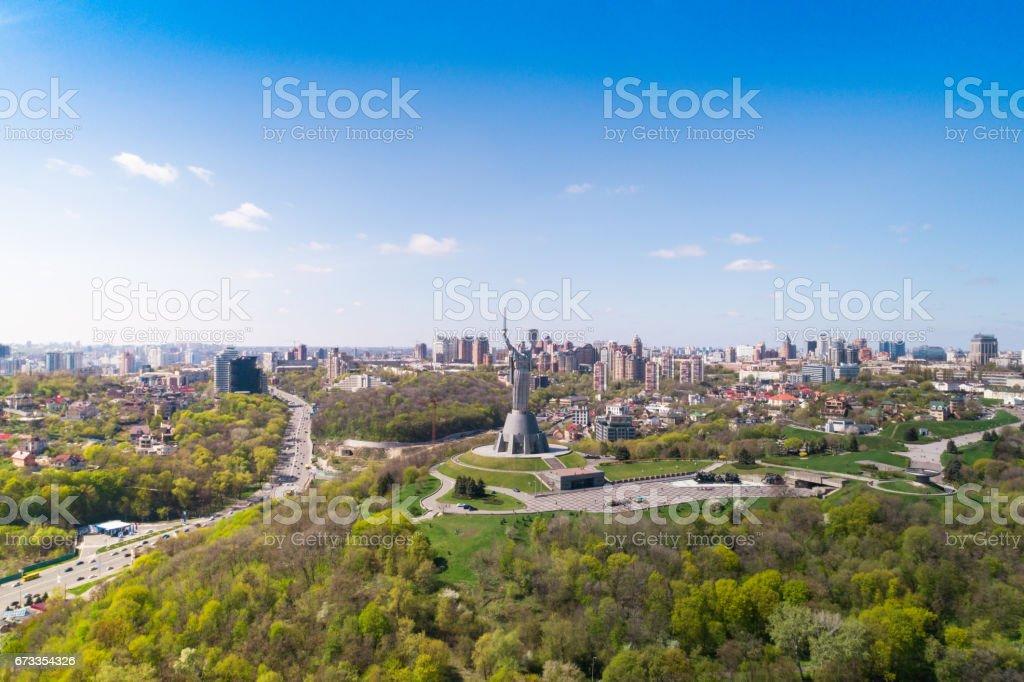 Panorama of Kiev city. Aerial view. stock photo