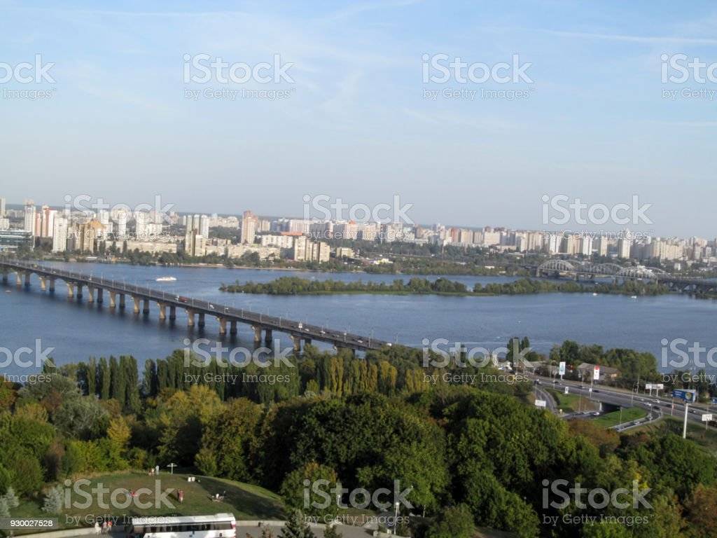 Kiev cityscape is made from the observation deck of the The...