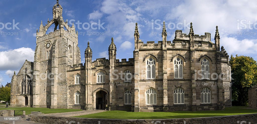 Panorama of King's College, Aberdeen stock photo