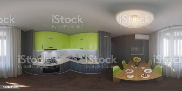 Panorama of kitchen design picture id848696152?b=1&k=6&m=848696152&s=612x612&h=s8ausuhbzc29pk9fhngjr1 a6alh4mmsz5tiuj9177g=