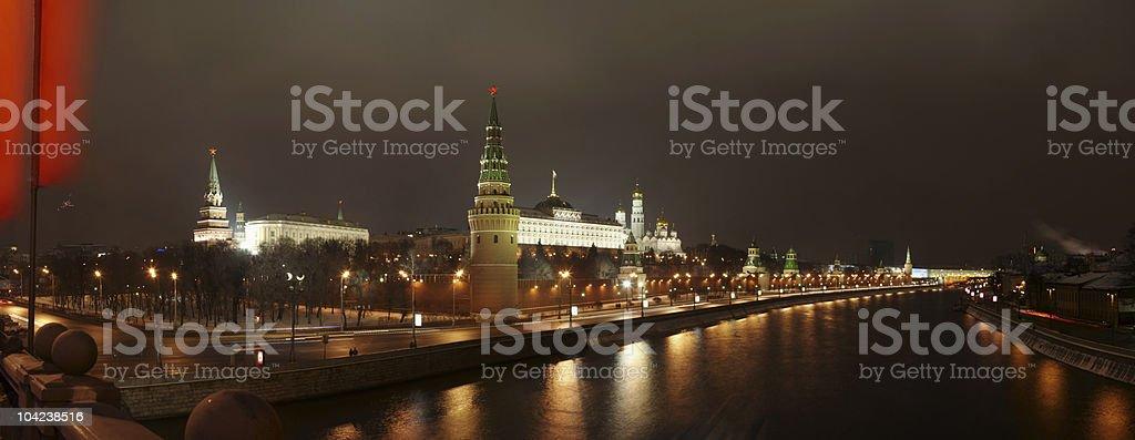 Panorama of Kremlin from bridge. royalty-free stock photo