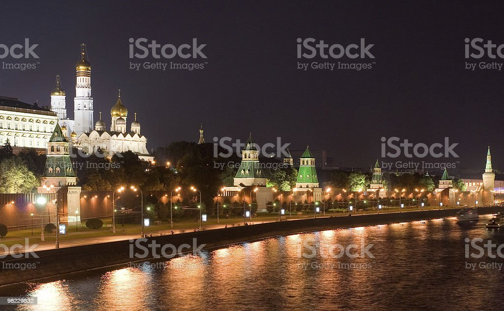 Panorama of Kremlin with river royalty-free stock photo