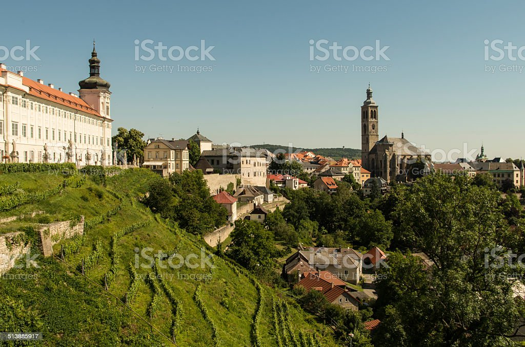 Panorama of Kutna Hora stock photo