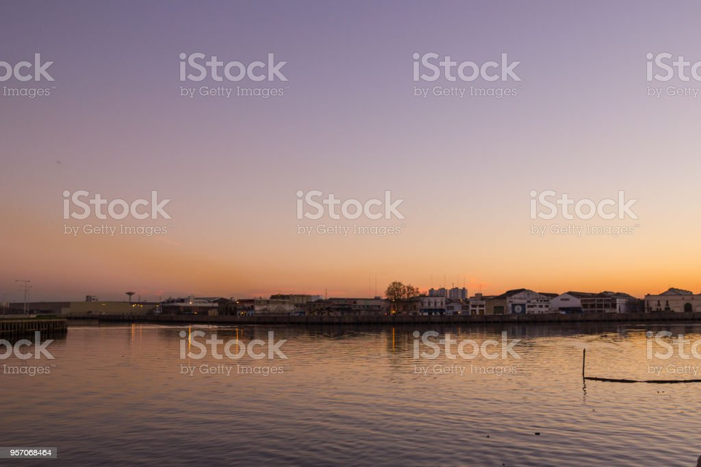 Panorama of La Boca, Buenos Aires, Argentina stock photo