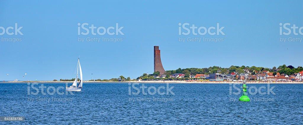 Panorama of Laboe (Germany) stock photo