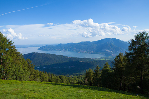 Panorama of Lago Maggiore from Val Grande National park