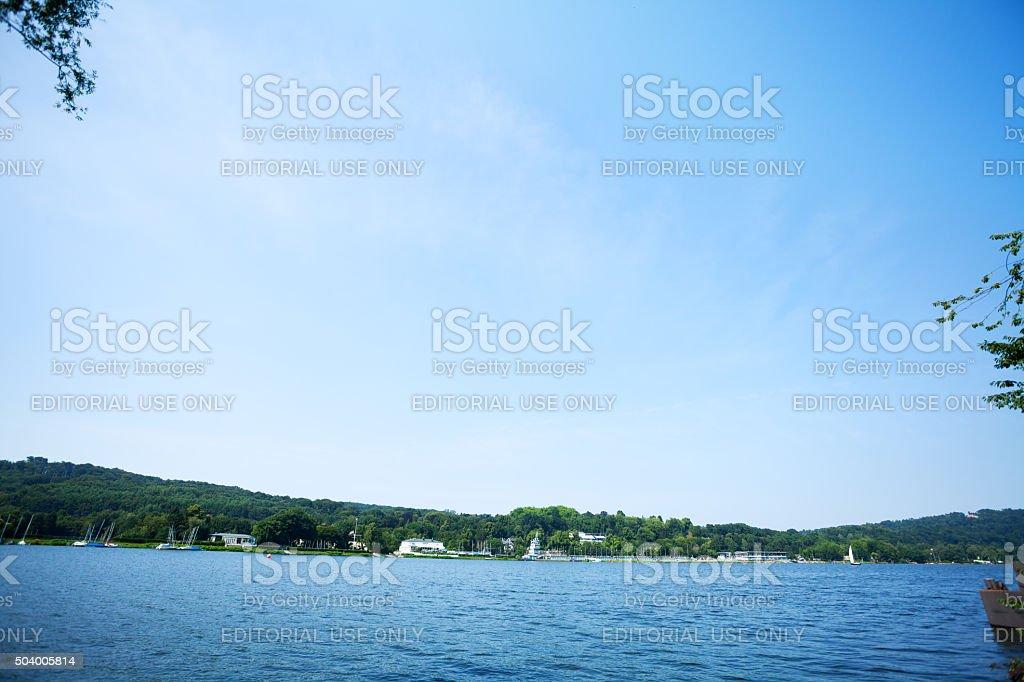 Panorama des lake Baldeneysee – Foto