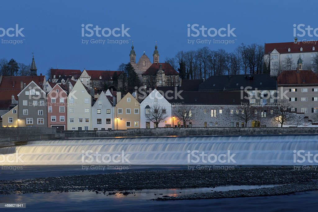 Panorama of Landsberg am Lech stock photo