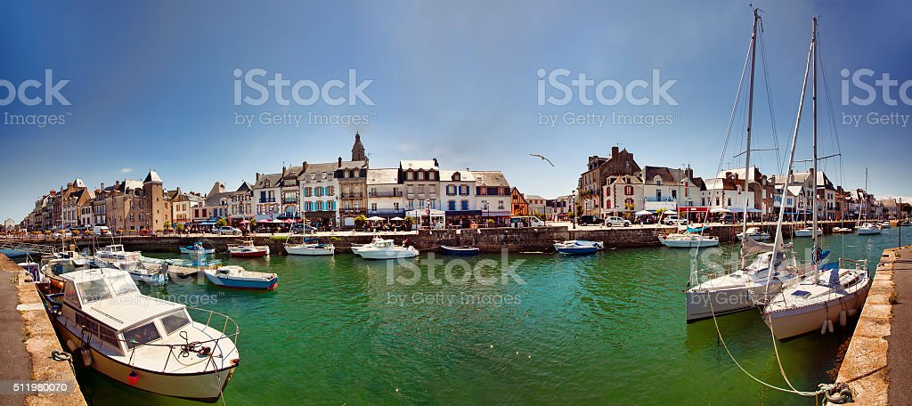 Panorama of Le Croisic, Loire-Atlantique, France stock photo