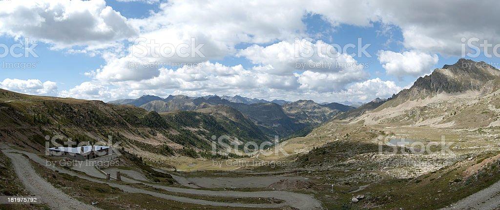 Panorama of Ligurian Alps mountains royalty-free stock photo