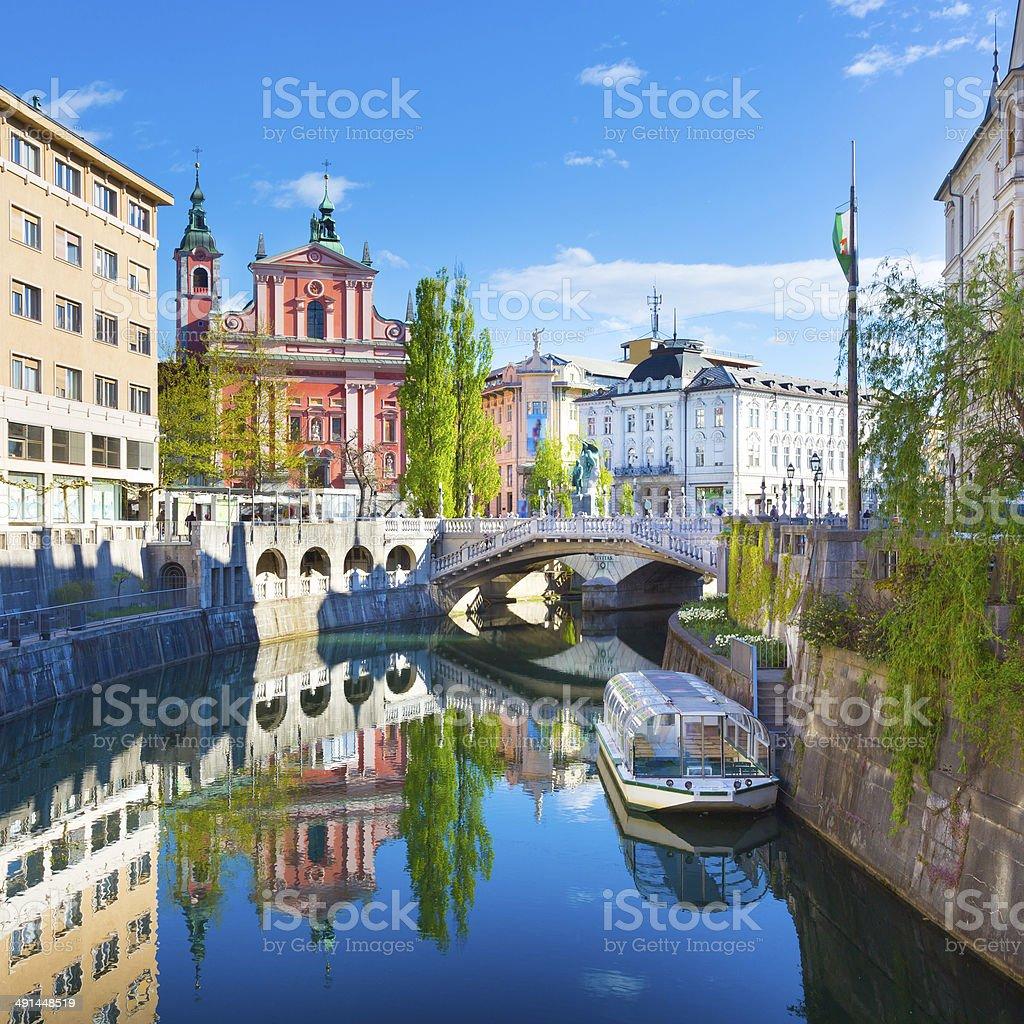 Panorama von Ljubljana (Slowenien, Europa. – Foto