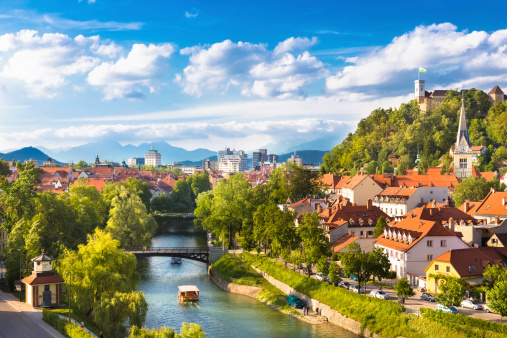 Panorama Of Ljubljana Slovenia Europe Stock Photo - Download Image Now