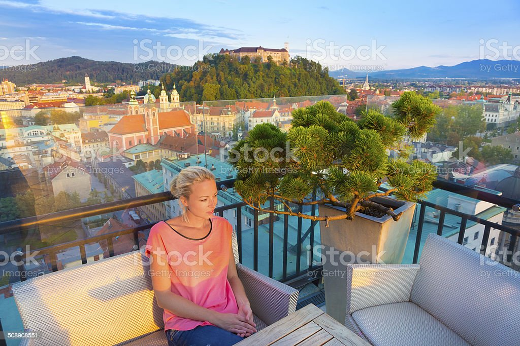 Panorama von Ljubljana (Slowenien, Europa. Lizenzfreies stock-foto