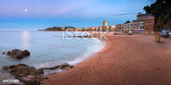 istock Panorama of Lloret de Mar Seafront in the Morning, Lloret de Mar, Catalonia, Spain 689011388