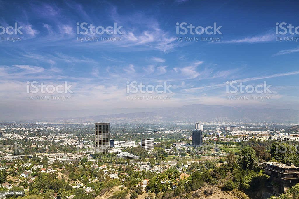 Panorama of Los Angeles County stock photo