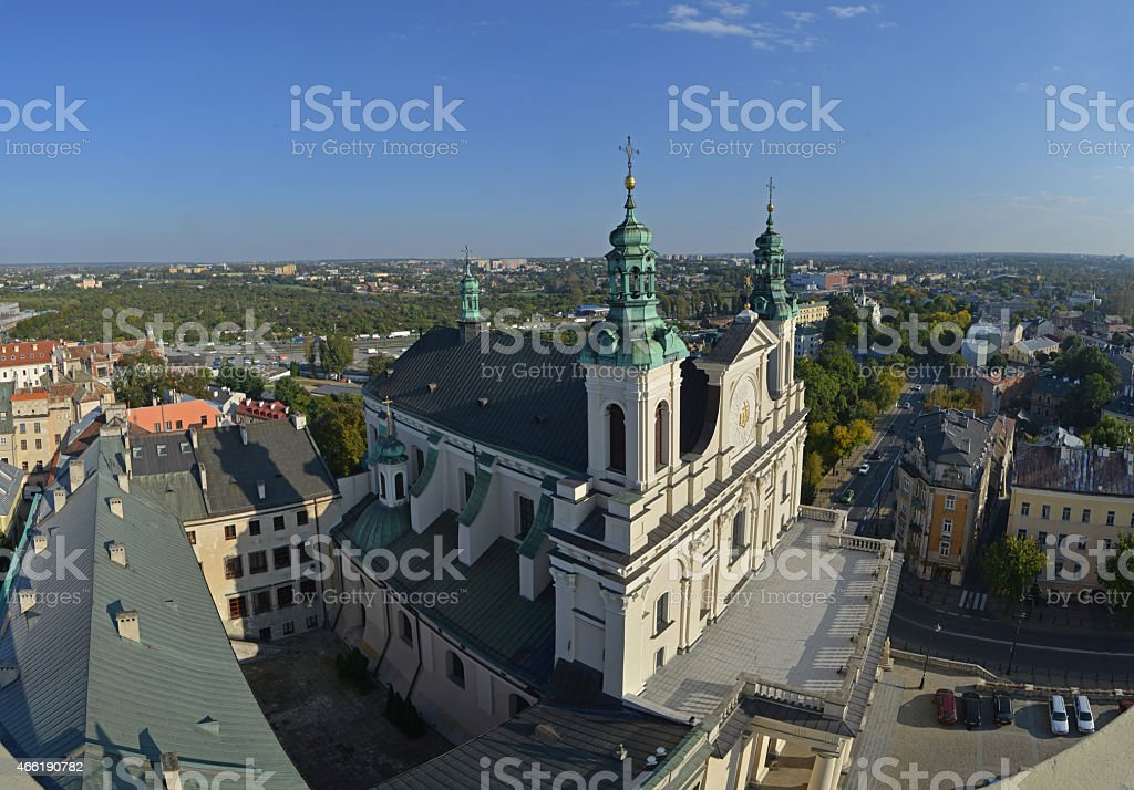 Panorama of Lublin (Poland) stock photo