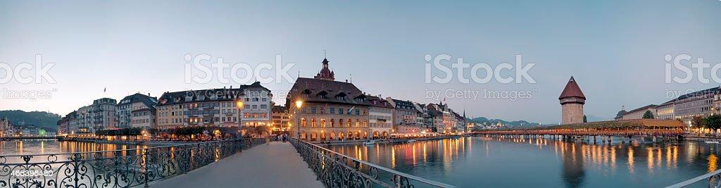 Panorama of Lucerne, Switzerland stock photo