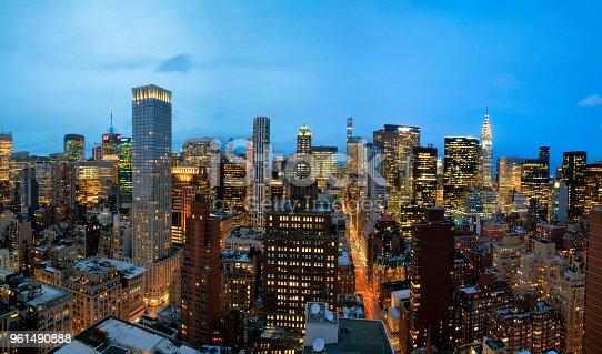 istock Panorama of Manhattan at Dusk, New York City 961490888