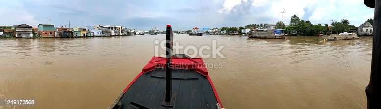 istock Panorama of Mekong River lifeline, Vietnam 1249173568