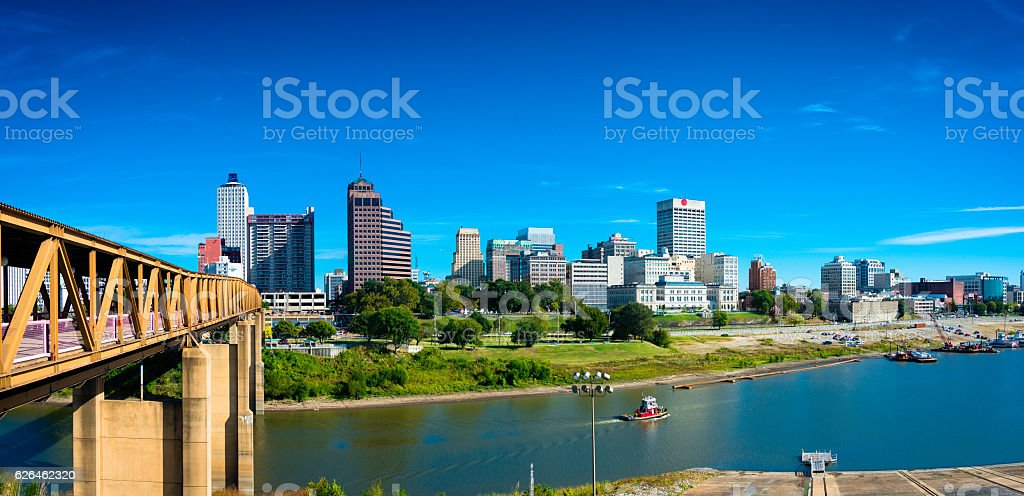 Panorama of Memphis Skyline stock photo