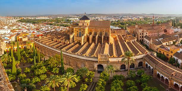 Panorama of Mezquita in Cordoba, Spain stock photo