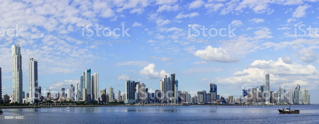Panorama of Modern Panama City, Panama, Central America. stock photo