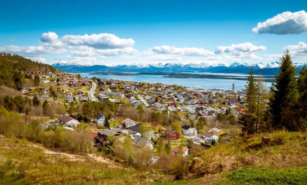 Panorama der Stadt Molde, Norwegen – Foto