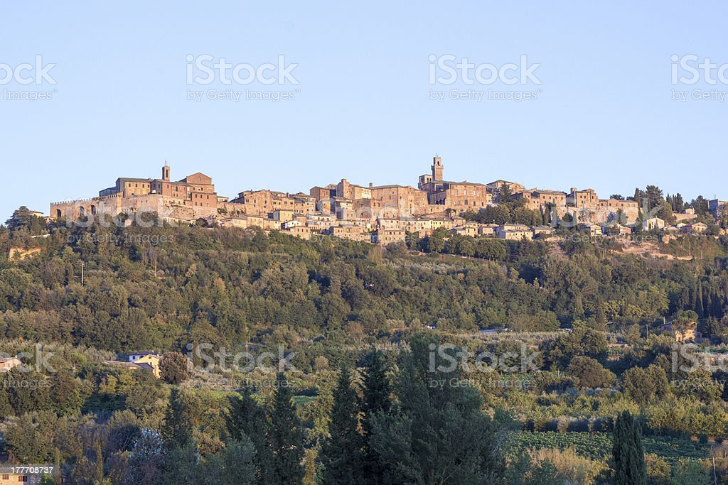 Panorama of Montepulciano, Tuscany, Italy stock photo