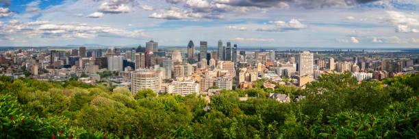 Panorama von Montreal Innenstadt. Luftaufnahme vom Mount Royal im Sommer in Montreal, Quebec, Kanada – Foto