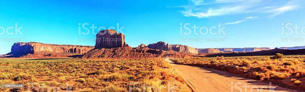 panorama of Monument Valley, Utah stock photo