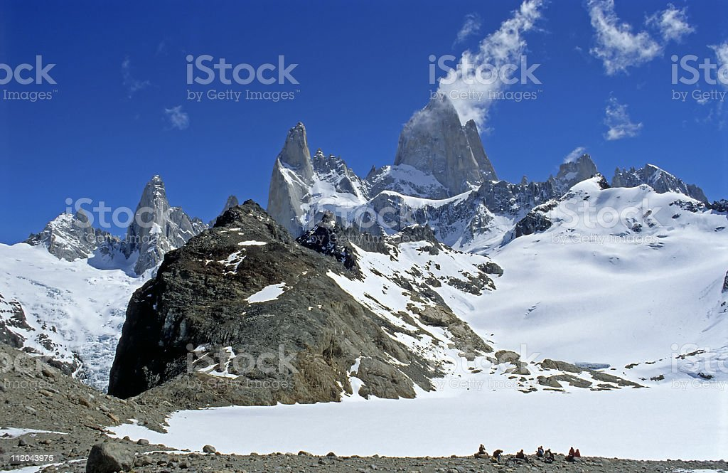 Panorama of Mount Fitz Roy royalty-free stock photo