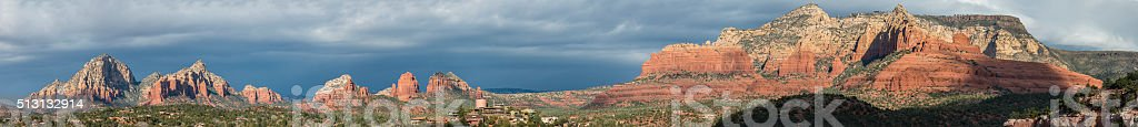 Panorama of Mountain in Sedona, Arizona, USA. stock photo