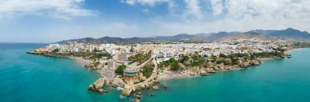 Panorama von Nerja, Malaga, Spanien – Foto