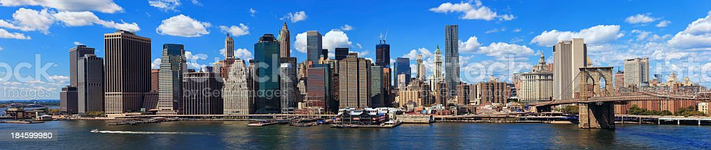 Panorama of New York City royalty-free stock photo