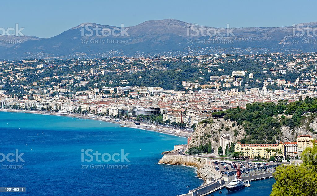 Panorama of Nice Beach royalty-free stock photo