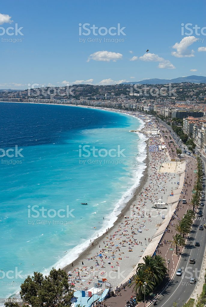 Panorama of Nice Beach royalty-free stock photo