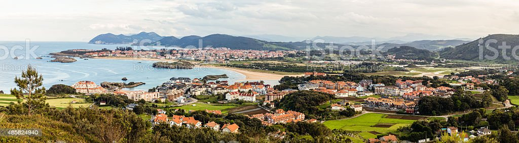 Panorama of Noja in Cantabria, Spain stock photo
