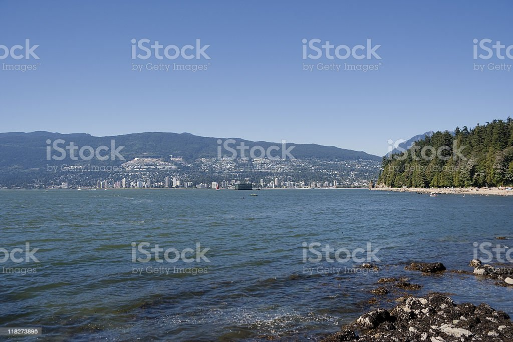 Panorama of North Vancouver royalty-free stock photo