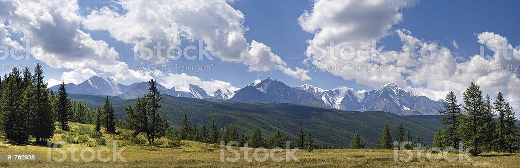 Panorama of North-Chuya ridge royalty-free stock photo
