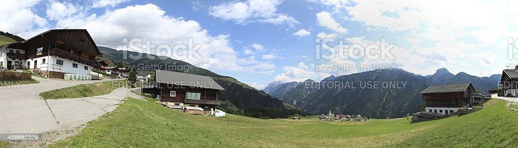 Panorama of Oberried, Osttirol, Tyrol, Austria royalty-free stock photo