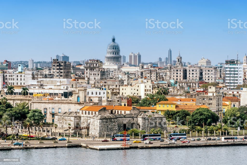 panorama of old Havanna with Capitol stock photo